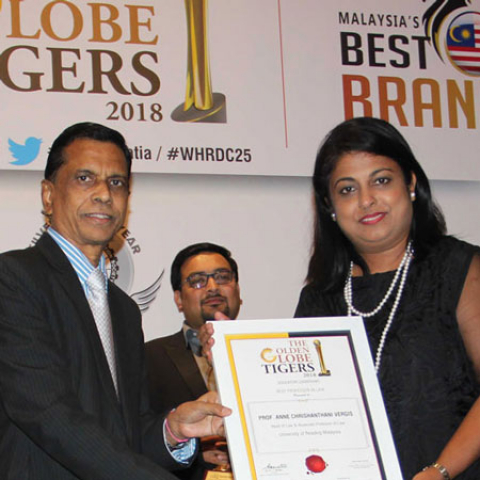 University of Reading Malaysia Head of Law wins Golden Globe Tigers Award