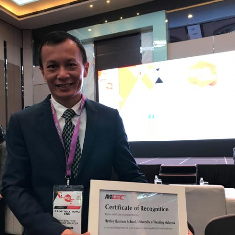 Henley Business School Malaysia recognized as one of six universities for the effort of producing Data Driven graduates by Malaysian Digital Economy Corporation (MDEC)